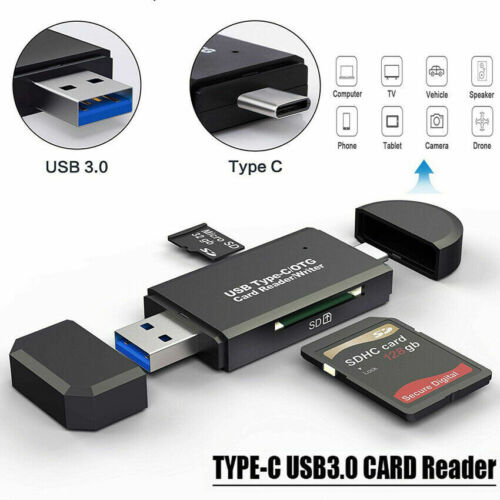 Type C to USB 3.0 OTG Adapter TF/ SD/Micro SD Card Reader with standard USB Male