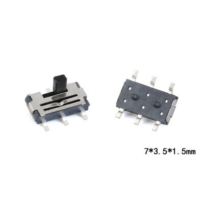 10pcs Smt Mini Toggle Switch 73.51.5mm 6 Pin 2 Position Smd Slide Switch