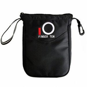 Golf Valuables Pouch Bag Clip Inner Zipper Hold Golf Balls Golf Tee Pouch 1 Set