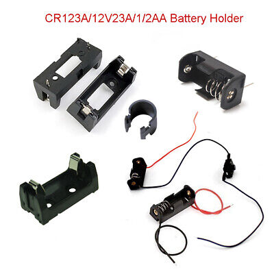 Cr123a12v23a12aa Lithium Battery Holder Connector Box Switch With Wire Case