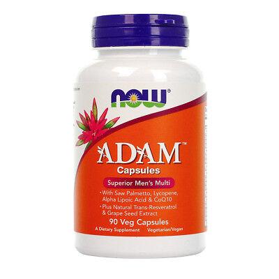 Now Foods Adam Superior Mens Multi Vitamins With Coq10   90 Veg Capsules