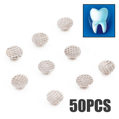 50pcs Dental Supplies Orthodontic Ortho Lingual Buttons For Bondable Round Base