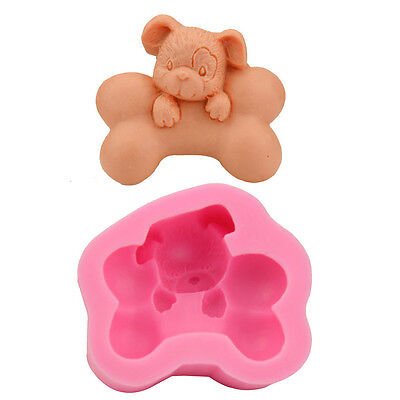 3D Dog Chew Bones Soap Mould Candle Mold Cake  Baking Mold