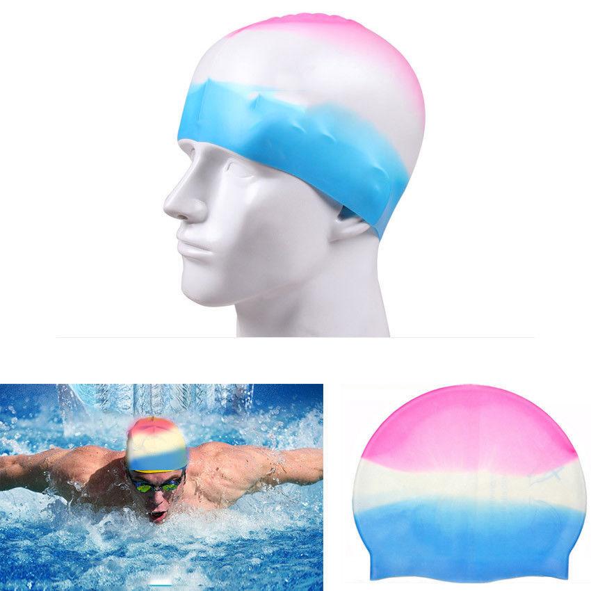 Unisex Kids Children Swimming Pool Cap Silicone Swim Hat Silicone Waterproof Ebay