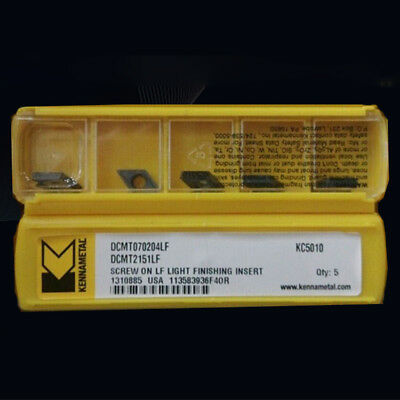 Kennametal Dcmt070204lf Dcmt2151lf Kc5010 Carbide Inserts 10pcs Cnc Tools