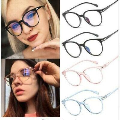 Retro Men's Women Round Eyeglass Frames Clear Lens Glasses Optical (Clear Spectacle Frames)