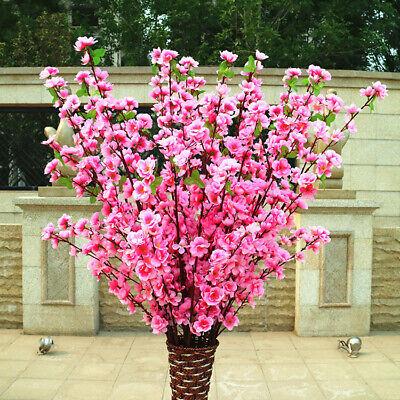 Artificial Cherry Peach Blossom Fake Silk Flower Home Garden Party Floral - Cherry Blossom Decorations