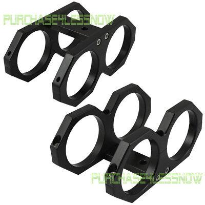 Dual Fuel Pump Bracket Holder Fuel Filter Clamp BLACK For Walbro Sytec Bosch