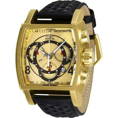 Invicta S1 Rally 27930 Men's Gold-Tone Genuine Leather Chronograph Watch ()