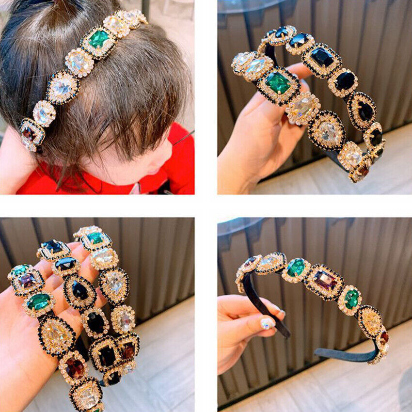 Tiara,Baroque Tiaras and Crowns, Wide Velvet Handmade Hair Band, Color CZ6L2 1X