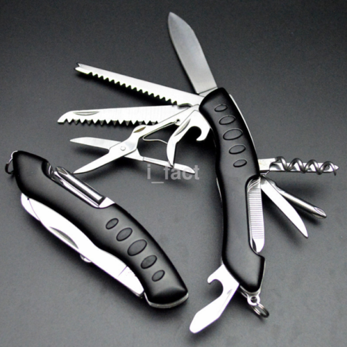 Military Folding Pocket Army Knife Outdoor Survival Multi Tool 3 Color US