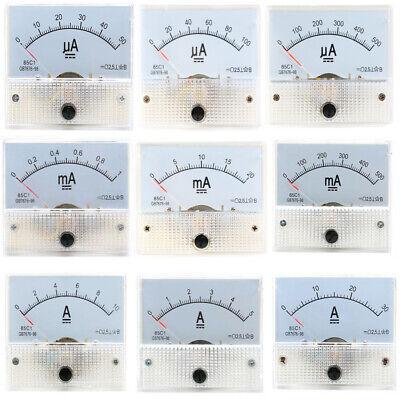 Dc 50ua 1ma 20ma 30a 85c1 Class 2.5 Analog Amp Panel Meter Gauge Current Ammeter