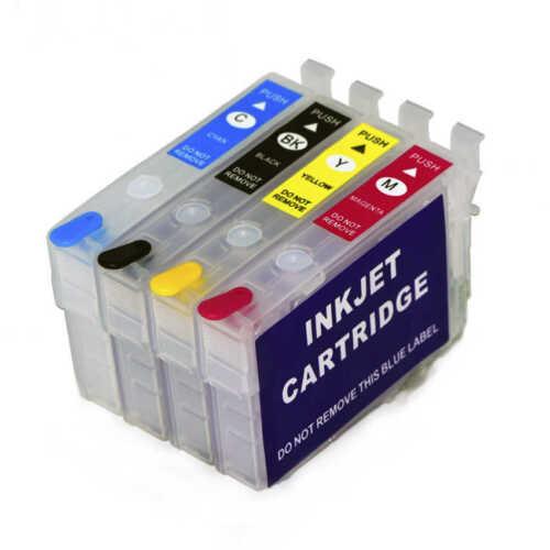Epson 702XL T702 Refillable Inkjet Cartridge for WorkForce WF-3720 WF-3730 3733