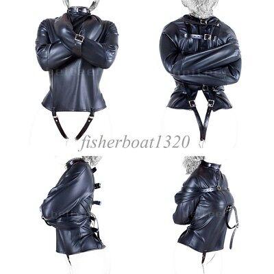 Body Harness Straight Jacket Halloween Costume S/M L/XL Armbinder Bondage Unisex - Halloween Straight Jacket