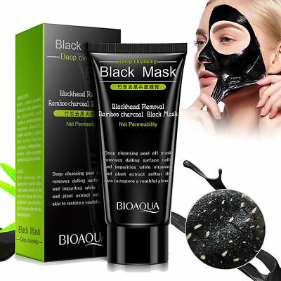 Bamboo Charcoal Black Deep Cleansing Peel Off Remove Blackhead BIOAQUA Face Mask