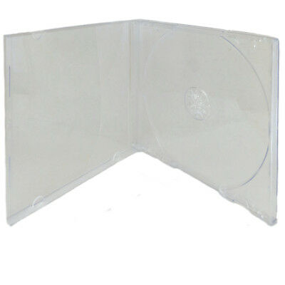 5 Pack Single Standard Clear Cd Dvd Jewel Case Assembled 10.4mm Free Shipping