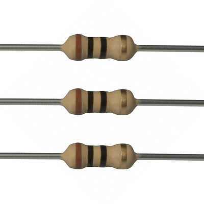 100 X 10 Ohm Carbon Film Resistors - 12 Watt - 5 - 10r - Fast Usa Shipping