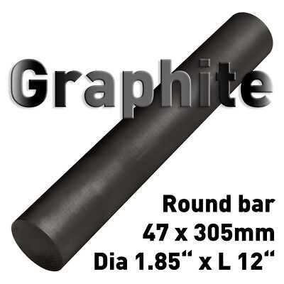 Carbon Electrode Rod Graphite Stick Dia 1.85 X 12 L Round Bar Anode 47 X 305mm