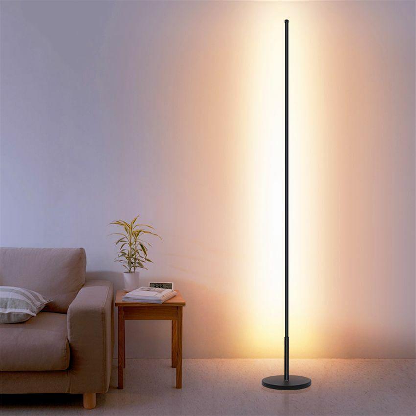 Minimalist LED Floor Lamps Aluminum Living Room Standing Lon