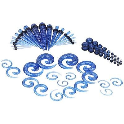 54PC Punk Ear Gauge Taper Plug Stretching Kits Punk Body Piercing Ear Stretching, used for sale  USA