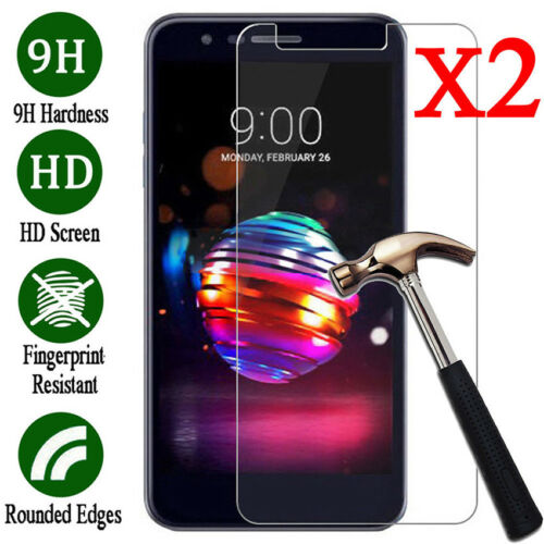 2PCS 9H Premium Tempered Glass Screen Protector Film For LG K Series Cell Phone