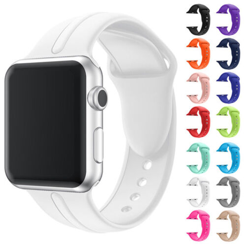 Soft Silicone iWatch Band Wrist Sport Strap for Apple Watch Series 1 2 3 38/42mm