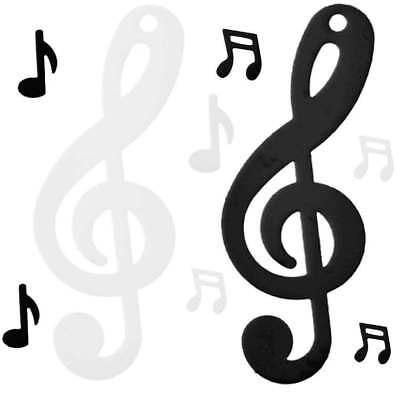 (1,33€/10g) Musiknoten Konfetti schwarz weiß Streudeko Notenschlüssel Mottoparty