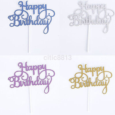 Home Happy Birthday Party Supplies Cake Topper Card Décor Festival Decoraction (Home Party Supplies)