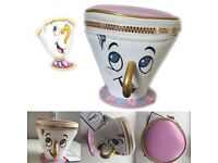 Disneys beauty and the beast chip mug purse
