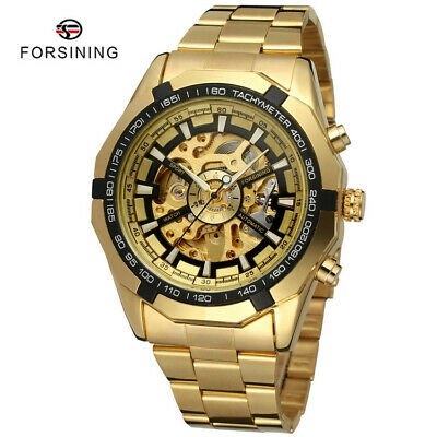 FORSINING Mens Classic Business Watches Automatic Skeleton Wristwatch 340