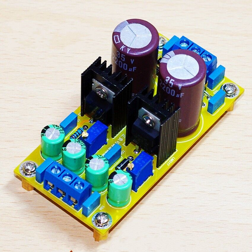 Details about AC-DC LM317 LM337 Adjustable Regulated Dual Power Supply  Module Board Kits
