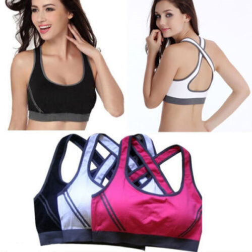 Women's Sport Bra Running Gym Yoga Padded Fitness Tank Stretch Workout Top Gift