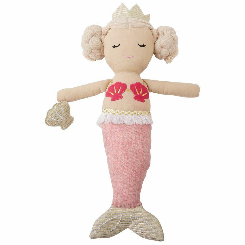Mud Pie Baby/Toddler Girl Light  Pink Tail Mermaid  Fairy Do