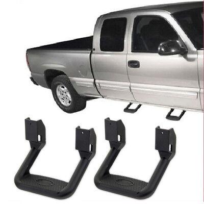 (2pcs Universal For Truck/SUV/Pickup Black Aluminum Side Step Nerf Bars)