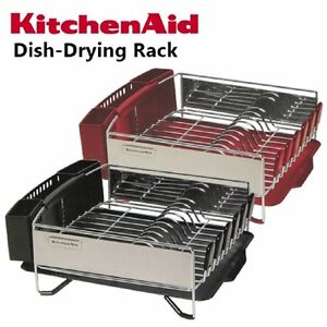Dish drainer racks holders ebay - Kitchenaid dish rack red ...