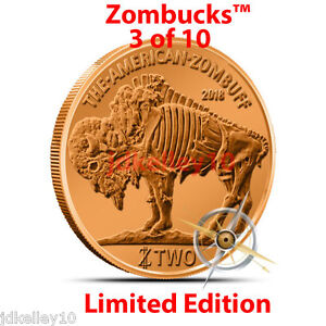 2014-COPPER-ZOMBIE-BULLION-ZOMBUCKS-Z2-ZOMBUFF-ROUND-1-OZ-999-FINE-3-of-10