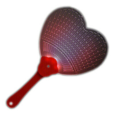 Heart Shaped  LED Hand Fan - Heart Shaped Hand Fans