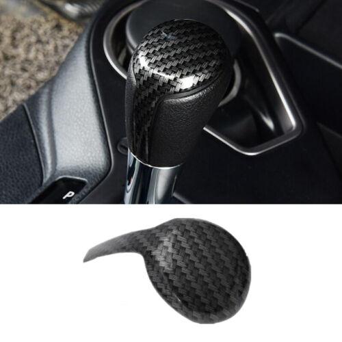 Carbon Fiber Styling Inner Gear Shift Knob Cover Trim j For Toyota RAV4 2013-18