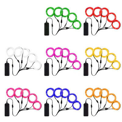 Flexible Neon LED Light Glow EL Wire String Strip Rope Tube Christmas 5 by 1M - Flexible Neon Lights