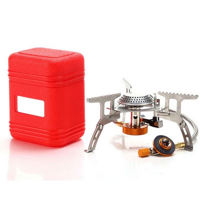 3500W Portable Outdoor Picnic Gas Burner Foldable Camp Kit Mini Steel Stove+Case
