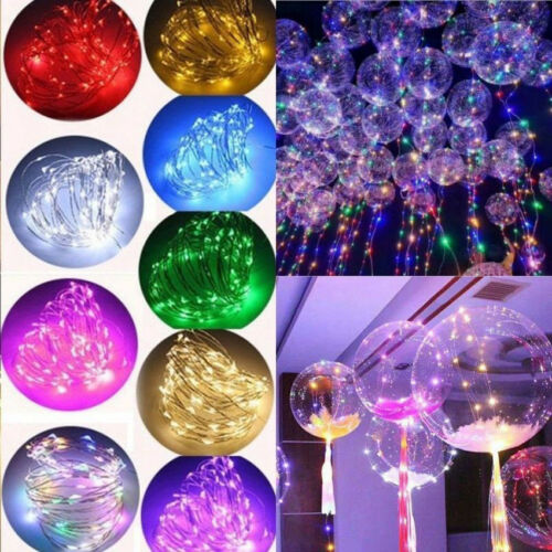 String Light Up Clear Luminous LED Balloon Festival Celebration Party Toy Decor