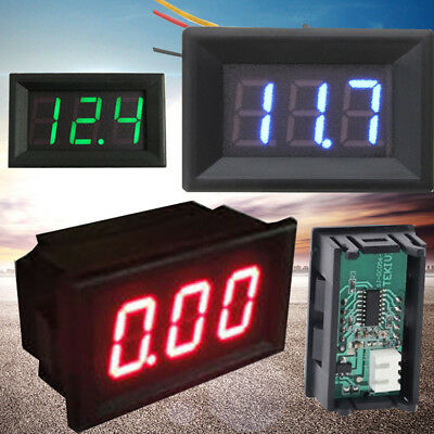 3 Colors 0.56 Led Display Volt Panel Meter Digital Voltmeter Voltage Car Meter