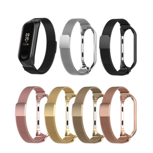 New Milanese Magnetic Loop Stainless Steel Strap Watch Band For Xiaomi MI Band 3