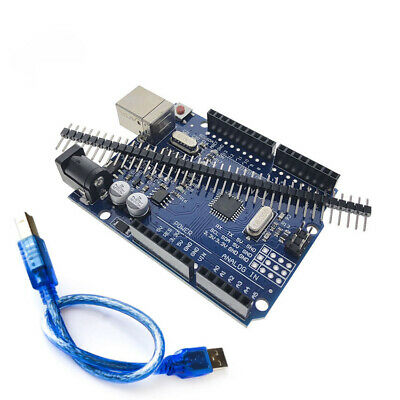 Arduino Uno R3 Ch340g Microcontroller Board Kit Atmega328p Sbc With Cable