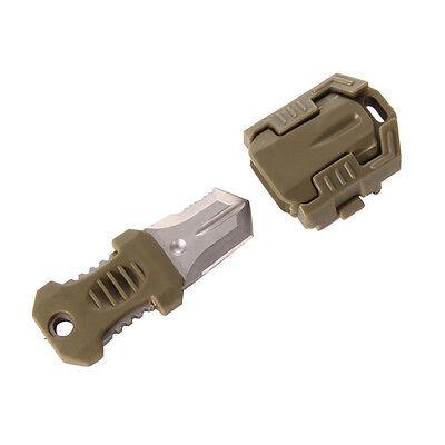 EDC Gear Mini Multifunctional Outdoor Survival Tool Knife Webbing Buckle+Rope US