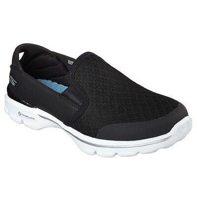 SKECHERS GO WALK 3 ACCOMPLISH GOGA MAT SLIP ON  WOMENS COMFORT WALKING SHOES