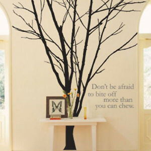 Tree branch trunk wall removable living room wall decor for Tree trunk wall art