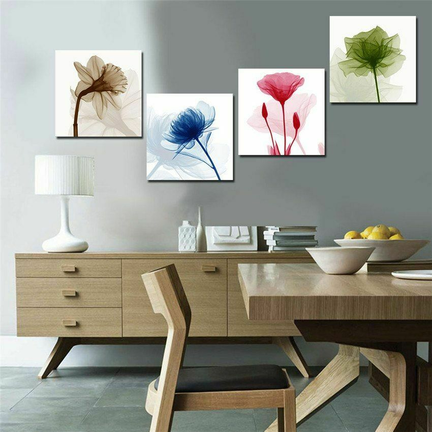 Wall Pictures Framed Canvas Printings For Home Decor Colorful Lily Flower Poster