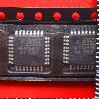 10 Pcs Atmega88pa-au Qfp-32 Atmega88 Mega88pa-au New And Original