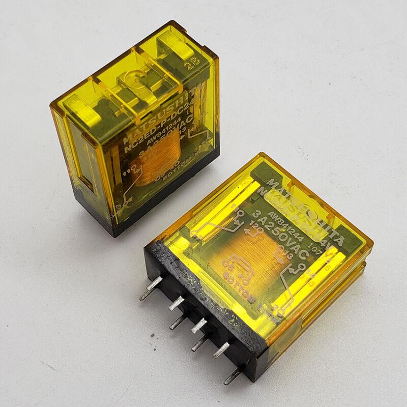 5PCS MATSUSHITA NC2ED-P-DC24V AW841244 24VDC Power Relay 8Pin 3A 250VAC